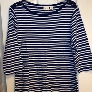 Chico's blue and white striped knit Top